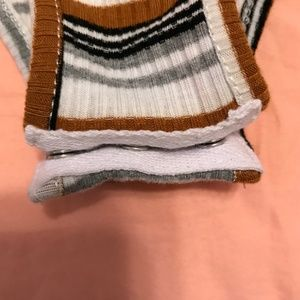 SHEIN Tops - SHEIN Plus Rib Knit Striped Wrap Bodysuit